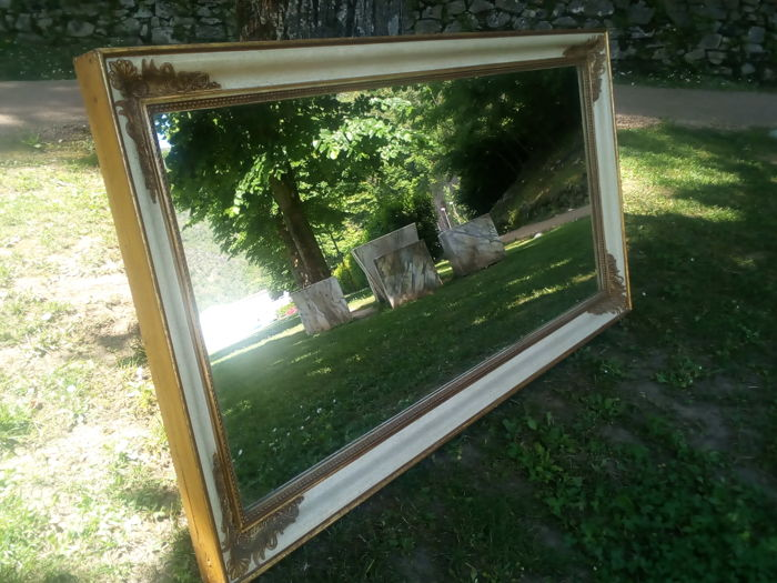 Wall mirror - Empire Style - Wood, gilded wood, mirror glass - around 1900