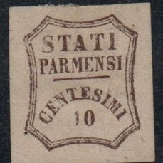 Parma 1859 - Provisional Government 10 cents brown - Sassone N. 14
