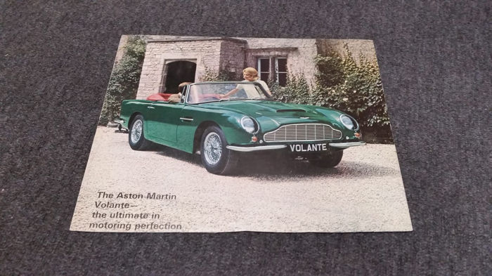 Brochures / catalogues - Aston Martin - DB6 Volante - 1967-1967