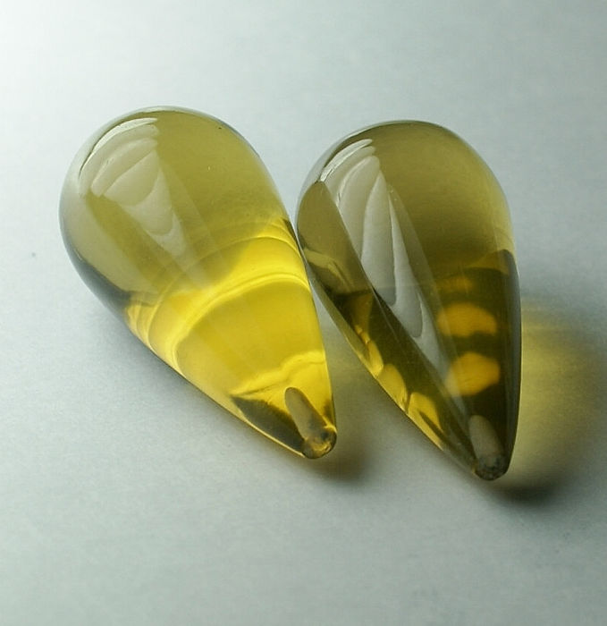 2 pcs giallo verdastro Quarzo citrino - 59.18 ct