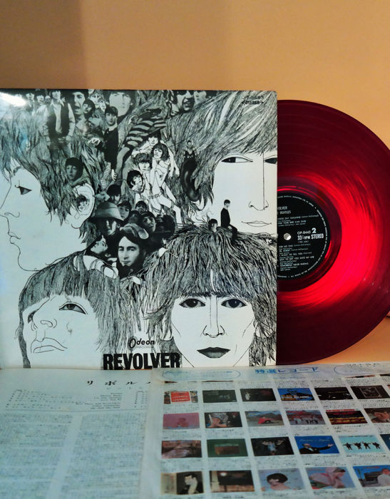 """Beatles - Revolver in red ,  from the nice """"Ever Clean Records"""" serie/ original from 1968 - LP Album - 1968/1968"""