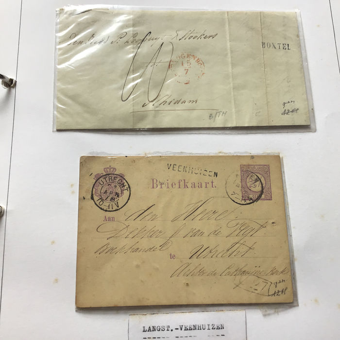 Netherlands - Collection of postal items and cancels, including sub-offices