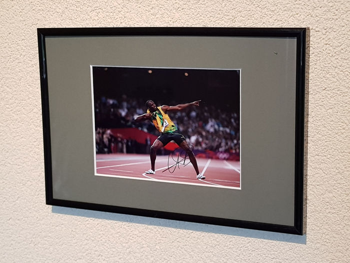 Jamaica - Olympic Games - Usain Bolt - Olympic legend - hand signed framed photograph