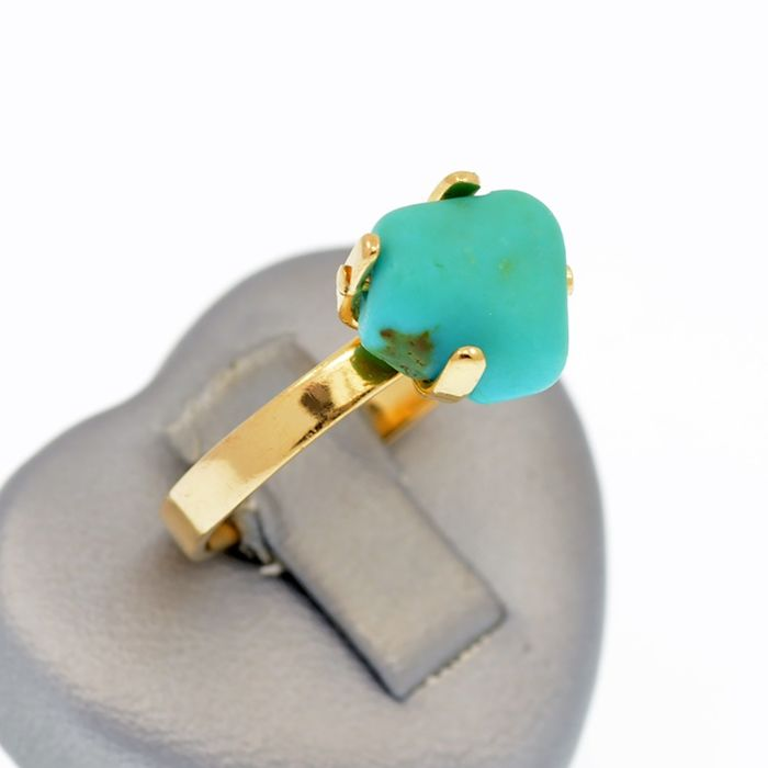 18 kt. Yellow gold - Ring Turquoise