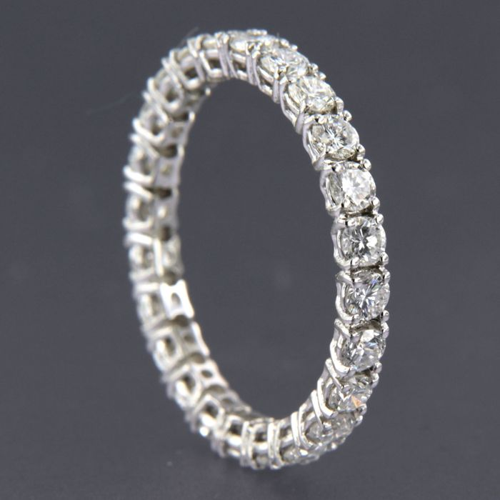 14 quilates Oro blanco - Anillo - 1.90 ct Diamante