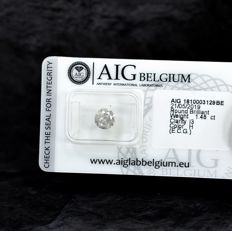 Diamond - 1.48 ct - brylantowy - H - I3 - NO RESERVE PRICE