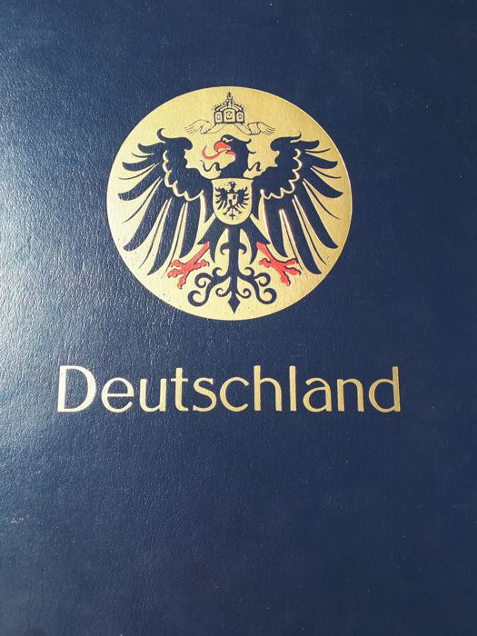 German Reich - German Reich 1872-1945 - Extensive collection of many expertised cancellations and stamps, over 200 pieces, in a Davo Luxe preprint album with a slipcase.