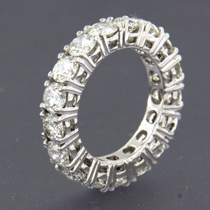 14 quilates Oro blanco - Anillo - 5.00 ct Diamante