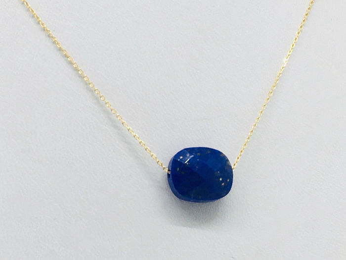18 kt. Yellow gold - Necklace Lapis lazuli