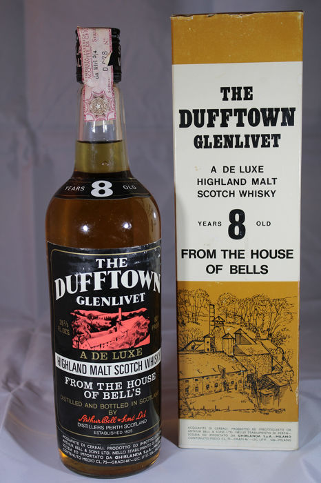 Dufftown 8 years old - Original bottling - 26 2/3 FL. OZS.