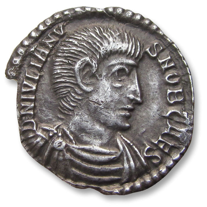 Roman Empire - AR Siliqua, Julian II / Julianus II as CAESAR.  Constantina (=Arles) mint 360-361 A.D. - TCON (3rd officina), officially recorded detector find - Silver