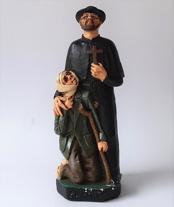 May Claerhout - Image of Saint Damian - Plaster
