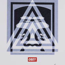 Shepard Fairey (OBEY) - Pyramid Top Icon Letterpress