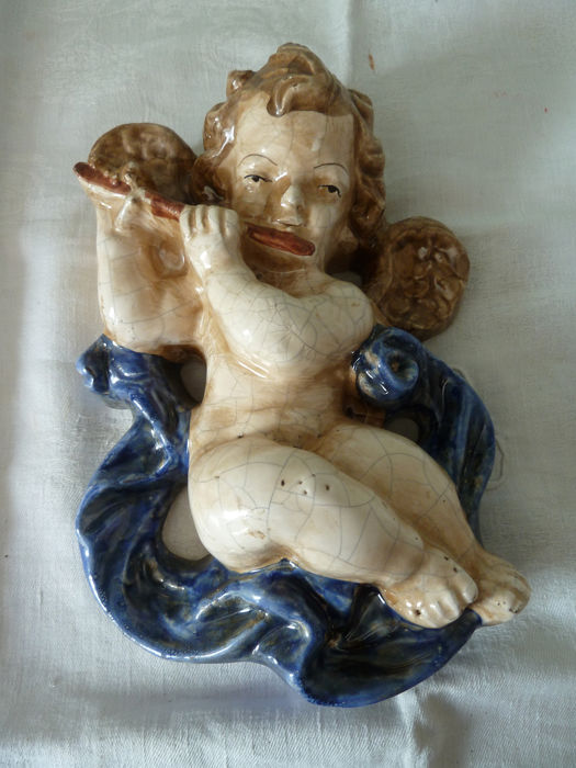 ancient musical angel made of ceramic handmade (1) - ceramic