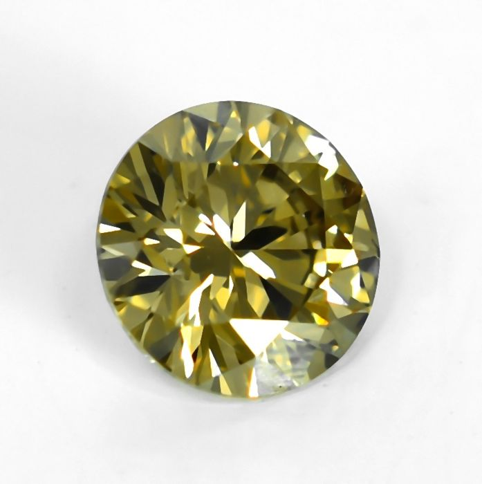 Diamant - 0.58 ct - Brilliant - Natural Fancy Yellowish Brown - VS1 - NO RESERVE PRICE - EXC/G/G