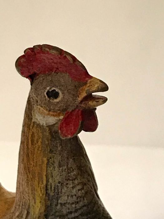 A bronze rooster - Bronze (cold painted) - First half 20th century