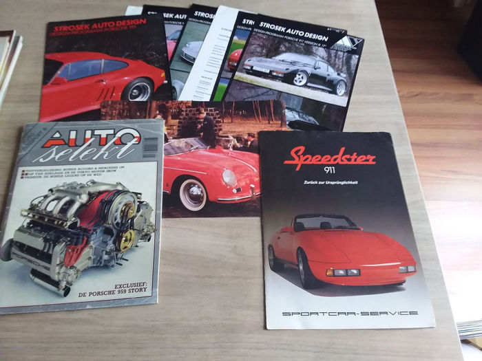Brochures / Catalogues - Porsche - 911 Speedster, 959 story, Strosek design - 1987