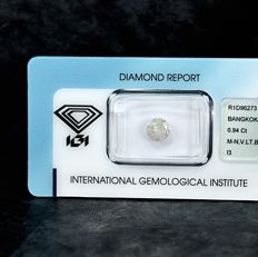 Diamond - 0.94 ct - brylantowy - M-N - I3 - NO RESERVE PRICE