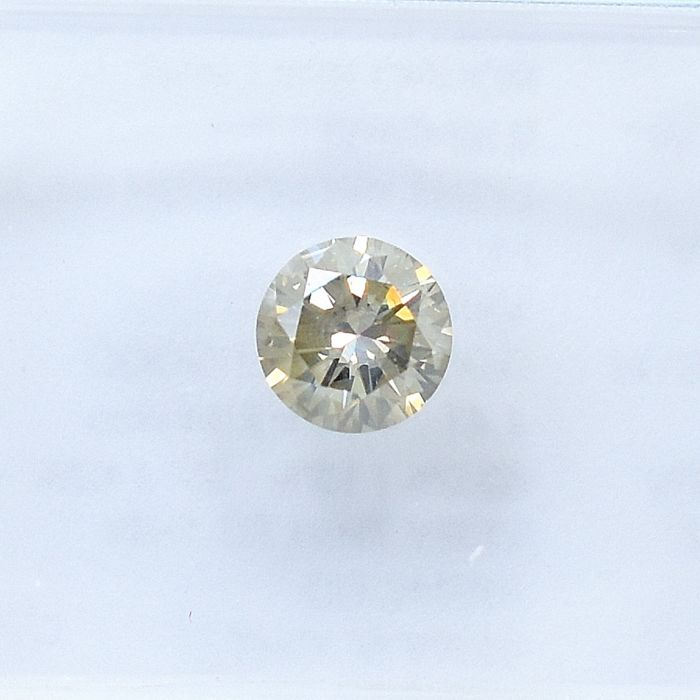 Diamant - 0.32 ct - Brillant - Light Yellowish Brown - I1