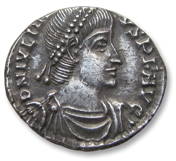 Roman Empire - AR Siliqua, Julian II / Julianus II - found in West Norfolk as part of a scattered hoard -  Constantina (=Arles) mint 360-361 A.D. - SCON (2nd officina) - officially recorded detector find - Silver