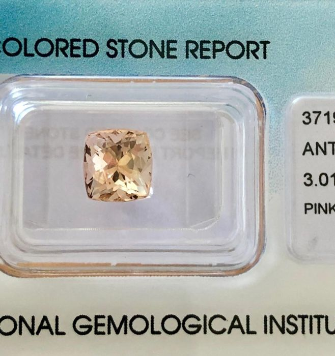 Yellow-Pink  Pink Topaz  - 3.01 ct
