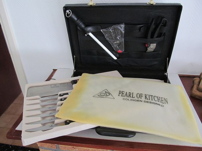 Pearl of kitchen Solingen design - 24 parts Knife set stainless steel - Stainless steel