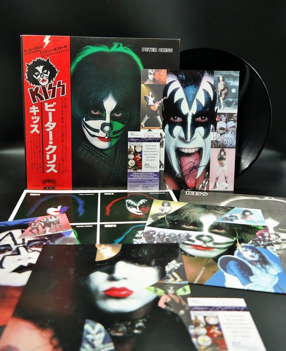 KISS - signed by Gene Simmons & Paul Stanley (JSA COA) & LP  Peter Criss very rare with Obi/ insert`s  - 2xLP Album (double album), LP album, Photo-set en personne, Souvenirs signés (autographe original) - 1978/1978