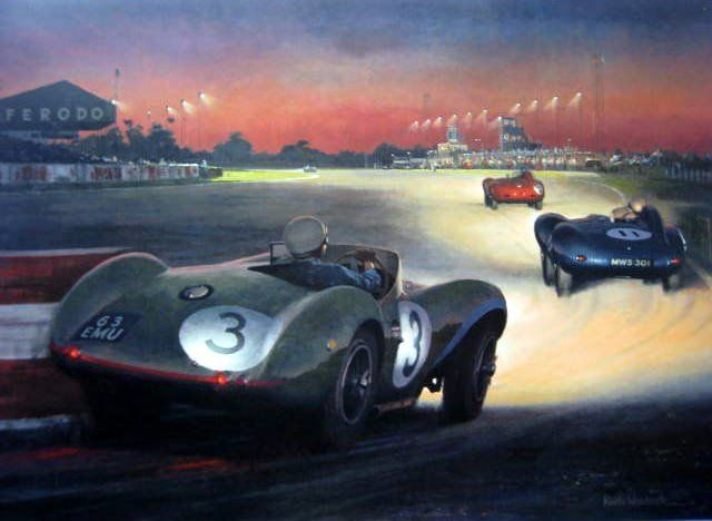 Limited Art Edition - Aston Martin DB3S #3/Peter Walker Winner 9 Hour Race Goodwood - 1955