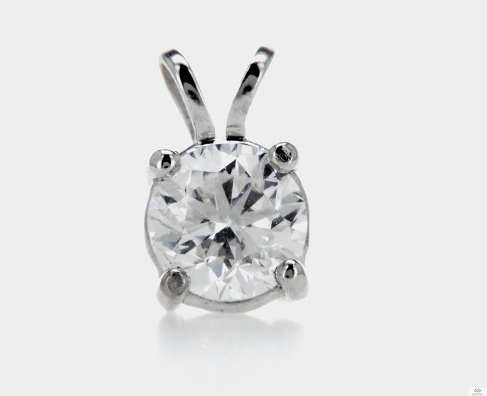 14 kt. White gold - Pendant 0.50 ct Diamond