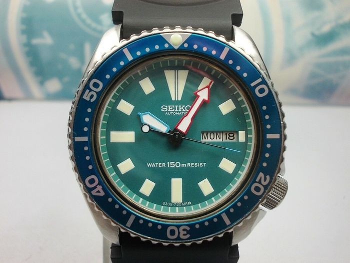 "Seiko - Modified Scuba Divers 150M - model no. 6309-729A ""SDEB39 TURTLE"" - Men - 1980-1989"