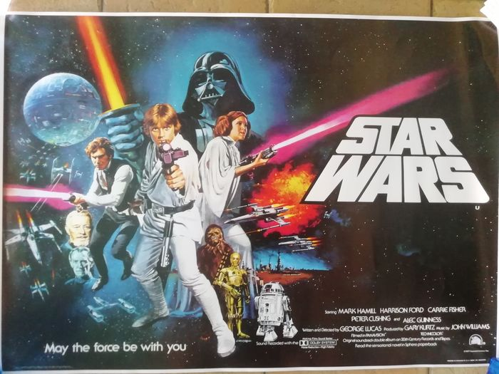 """Star Wars"" British mini Quad Poster - 1977"