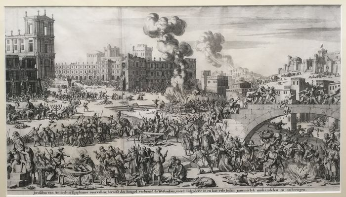 Jan Luyken (1690) - The city of Jerusalem attacked by Antiochus Epiphanes