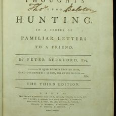 Peter Beckford - Thoughts Upon Hunting. In a Series of Familiar Letters to a Friend - 1784
