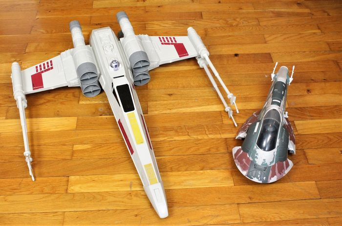 """Star Wars - Giant Rebels X-Wing Starfighter with R2D2  & Booba Fetts """"Slave1 """" Model Raumschiff"""