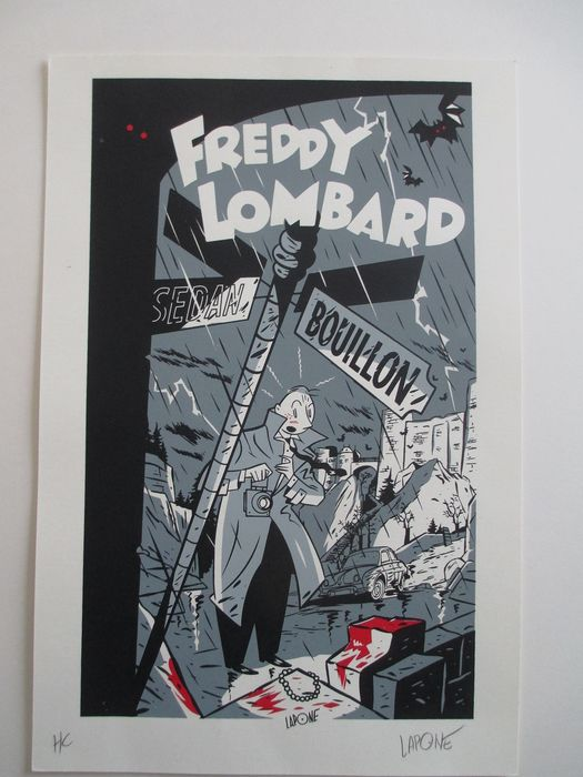Lapone - Sérigraphie Freddy Lombard - Hommage à Yves Chaland  - (2009)