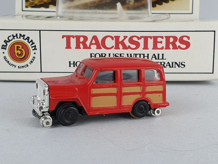 Bachmann H0 - 46 1231 - Rail vehicle - Driving Jeep Jeepster rail vehicle