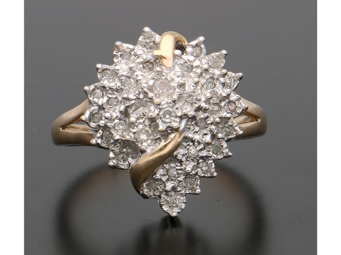 14 kt Gelbgold - Ring - 0.16 ct Diamant