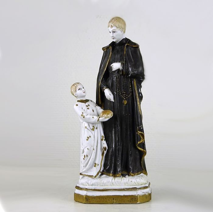 Figure of Saint Gerardus Majella  - Biscuit porcelain