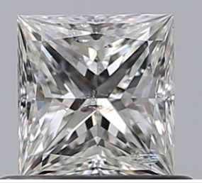 1 pcs Diamant - 0.50 ct - Prinzess - H - SI2