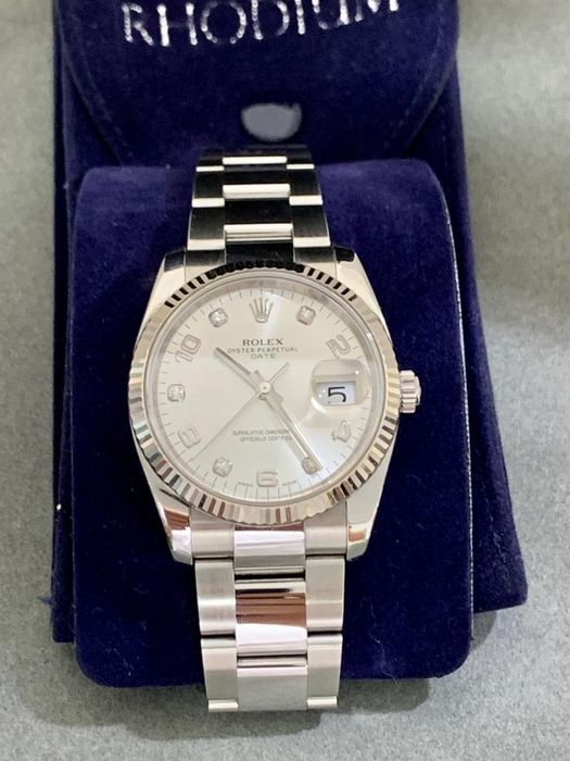 Rolex - Oyster Perpetual Date Diamond  - 115234 - Unisex - 2011-nutid