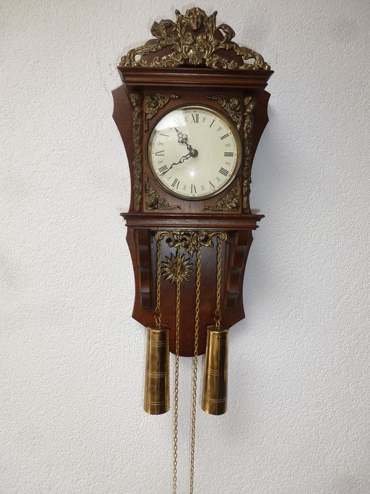 Wall clock - Wood - Second half 20th century
