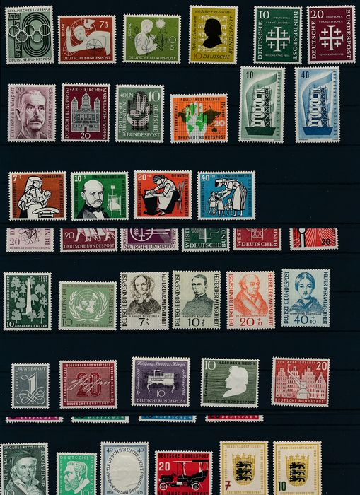 "Germany, Federal Republic 1954/1956 - Years 1954 - 1956, complete, without ""Heuss"""
