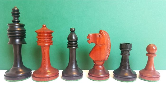 Chess set, Mod. Covent Garden - Ebony - Bois de Rose - Wood- Rosewood, Wood-Ebony Curio for sale