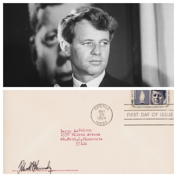 Robert Kennedy Politic of USA - Autograph; Original Signed Envelope with Certificate of Authenticity - 1964