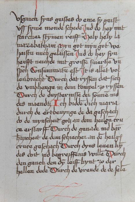 Manuscript - Original page from the 16th century                   - 1550