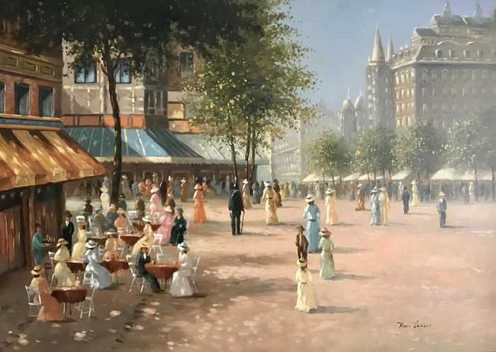 Marc Lamers (1960-) - Plein in Parijs