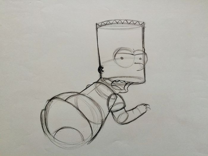 The Simpsons - Homer Simpson - Original Animation Drawing by Matt Groening ( 28 x 35 cm ) - With COA