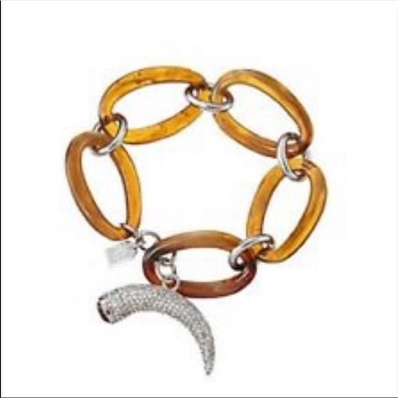 Ralph Lauren - stylish gold plated tortoiseshell effect, horn toggle  bracelet