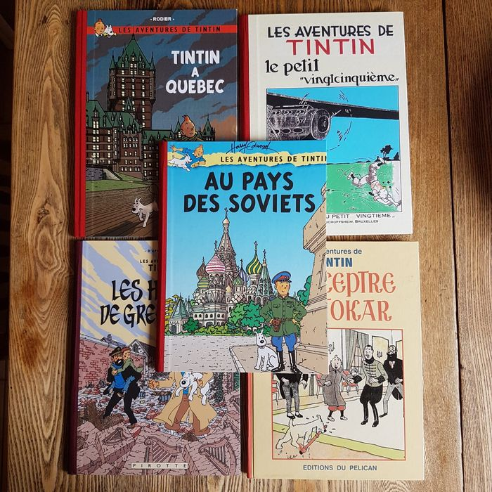 Tintin - 5x parodie, pastiche - 5x C - Hardcover - Different editions - (1986/2012)