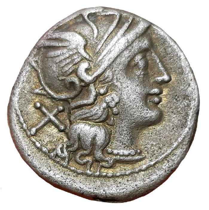 Romeinse Republiek - AR Denarius,  Anonymous c. 157-156 BC - Victory driving galloping - Cr. 197/1 a - Zilver